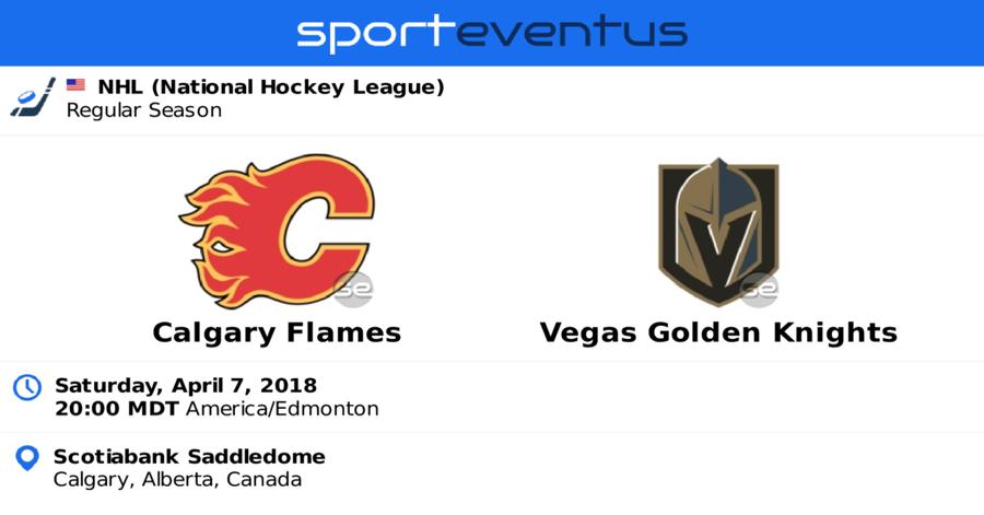 calgary flames vs vegas golden knights tickets nhl apr 7 2018 sporteventus