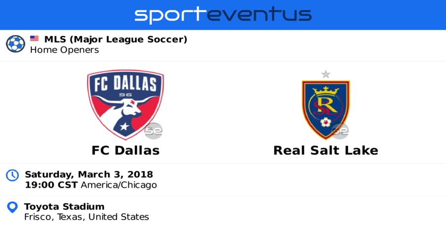 Fc Dallas Vs Real Salt Lake Tickets Mls Mar 3 2018 Sporteventus